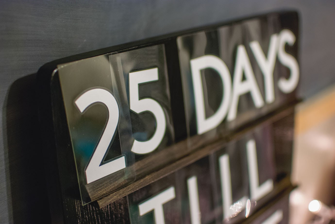 25 Days Till Countdown Letterboard Sign