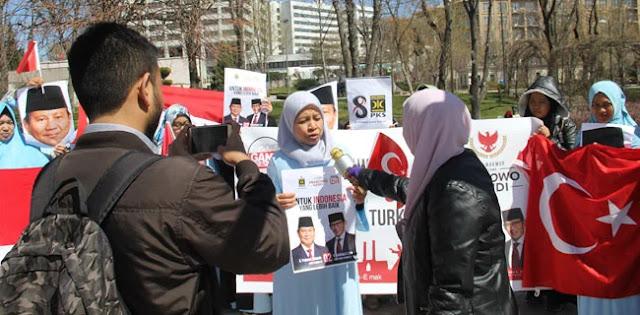 Emak-Emak Milenial Turki Deklarasi Dukung Prabowo Sandi