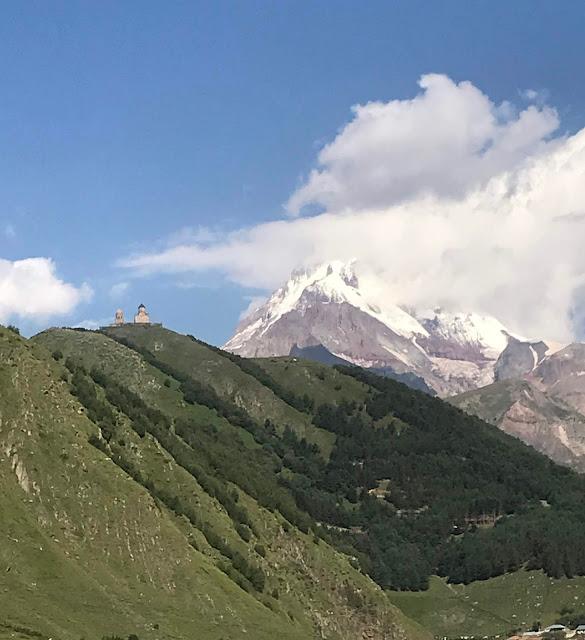 góry, Kazbegi, Gruzja, wyprawa