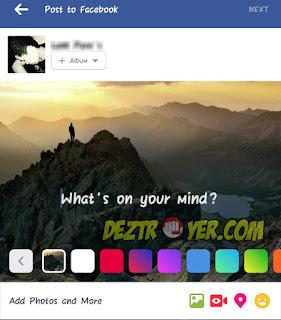 Cara membuat status FB dengan background gambar