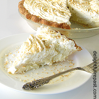 Coconut Cream Pie - Buttermilk Crust / www.delightfulrepast.com