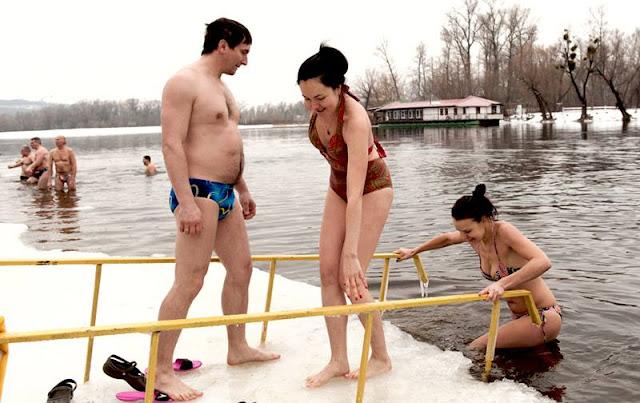 крещенское купание в Днепре
