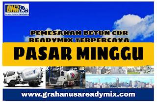 HARGA BETON COR READYMIX PASAR MINGGU