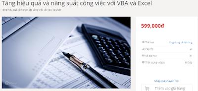 Chia sẻ khóa học Tăng hiệu quả và năng suất công việc với VBA và Excel
