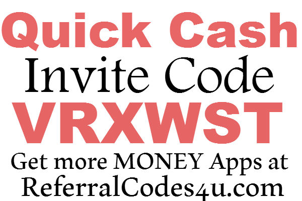 Quick Cash App Invite Code 2016, Quick Cash Sign Up Bonus, QuickCash Refer A friend