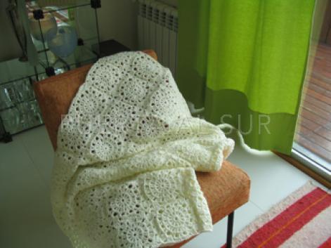 manta crochet recien nacido - Mantas tejidas para abrigarte y decorar