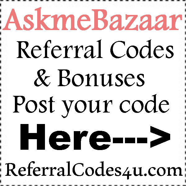 AskmeBazaar Referral Codes 2016-2017, AskmeBazaar Promo Codes July, August, September