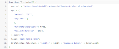Bot Komentar Facebook Simsimi With JavaScript
