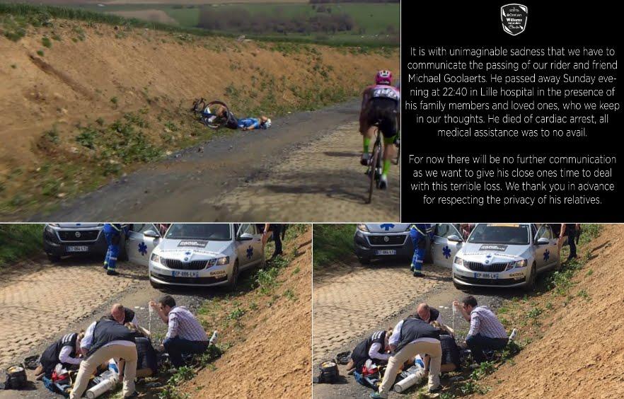 Parigi-Roubaix: è morto il ciclista Michael Goolaerts colpito da infarto
