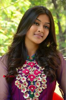 Actress Pooja Jhaveri Latest Stills in Purple Salwar Kameezt at Dwaraka Success Meet  0216.JPG