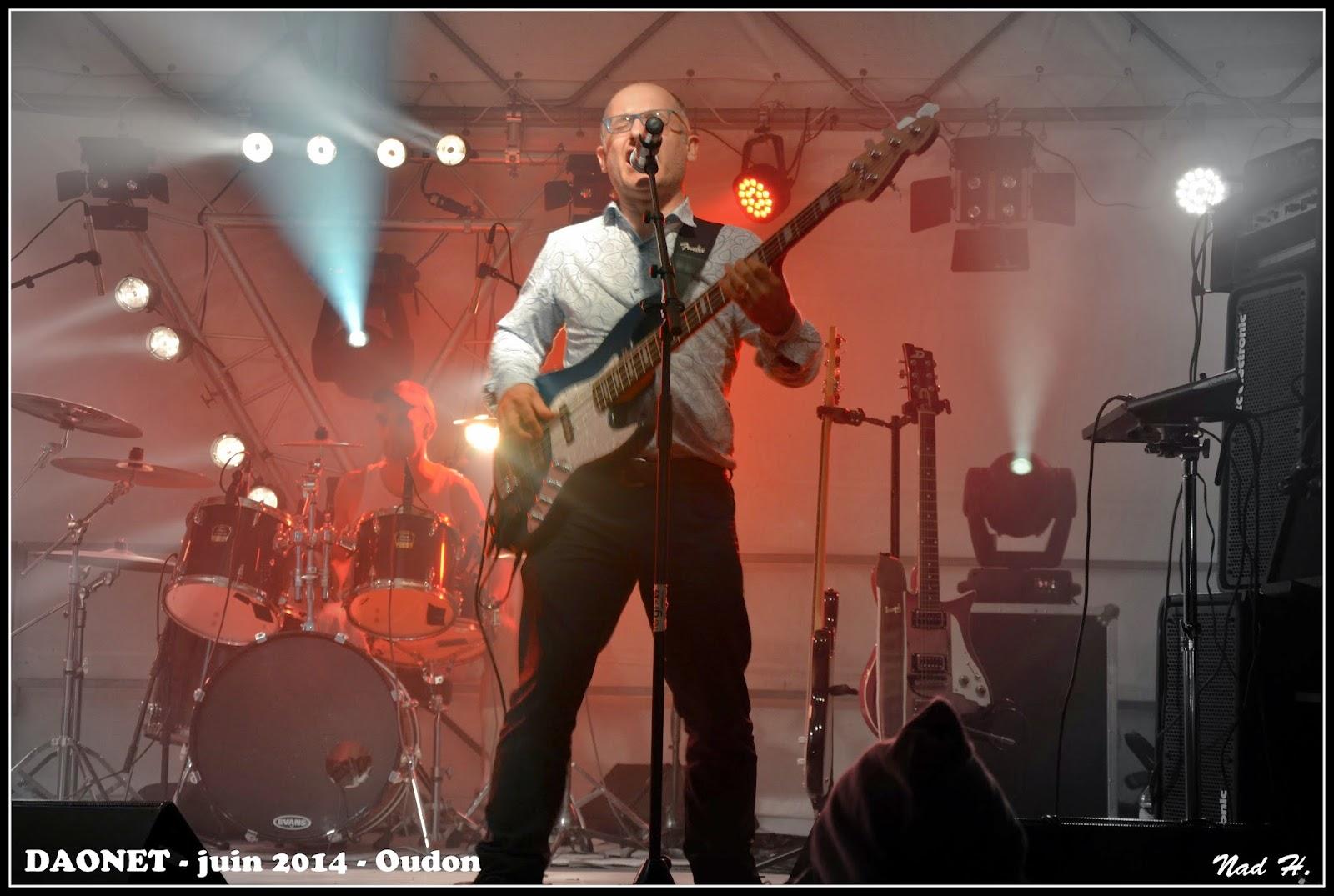 Daonet - Rock breton fête de la musique 2014 Oudon - Gilles basse chant Hervé batterie
