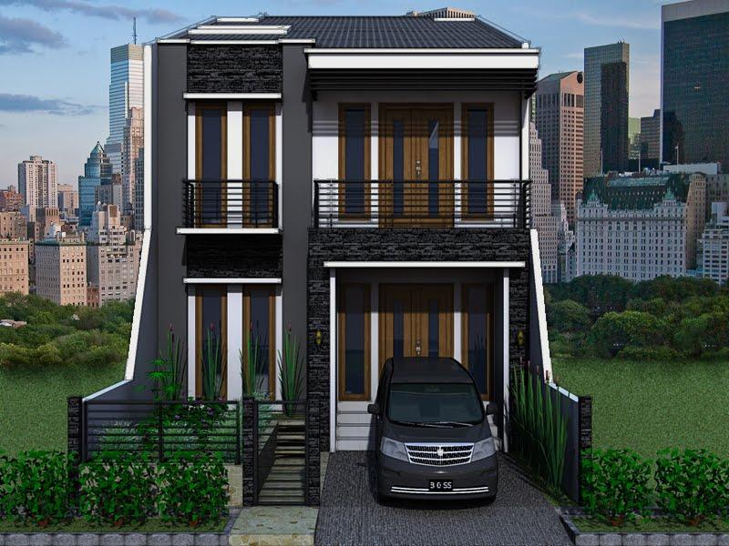 Model Rumah Minimalis 2 Lantai Type 36 Tampak Depan - Full ...