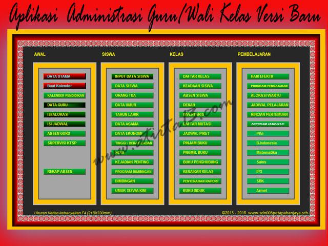 Download Aplikasi  Administrasi Guru/Wali Kelas Versi Baru SD,SMP,SMA