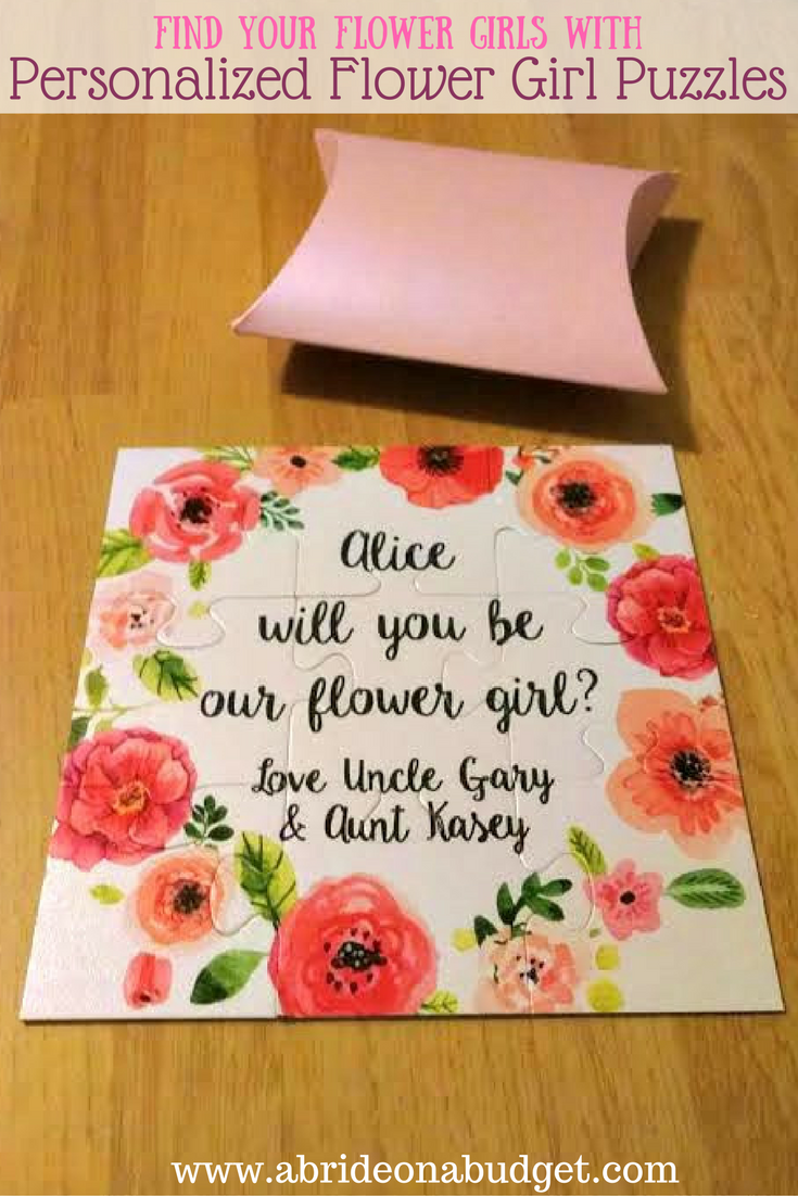 Personalized flower girl puzzles and an easy diy a bride on a budget have a little girl in your life who you want to be your flower girl mightylinksfo