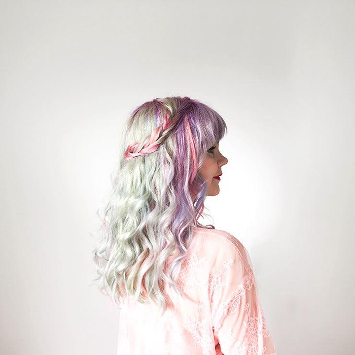 Annan tirpat, sateenkaarihiukset, pastellihiukset, hybridivärit, Anna-Maria Mäkelä, hiusinspiraatio, Prime hair and beauty design, My Little pony