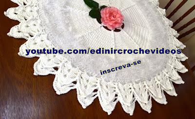como fazer tapete de croche aprender croche edinircrochevideos youtube curso de croche facebook aprender croche canhotas