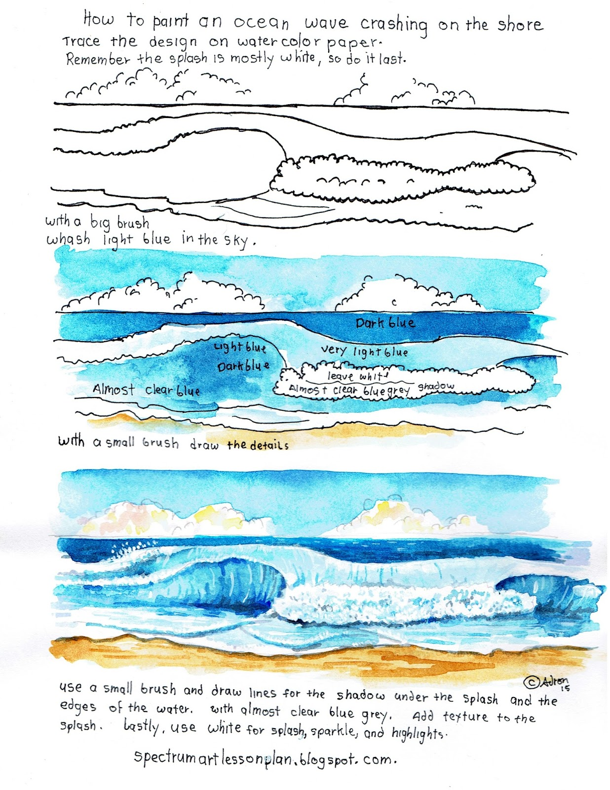 Adron\'s Art Lesson Plans: How To Paint A Picture Of An Ocean Wave ...