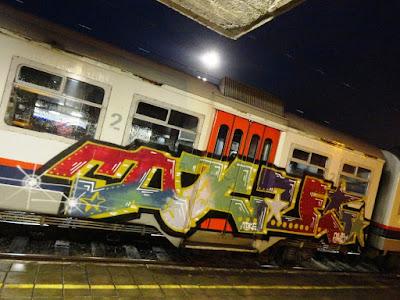 graffiti in the night