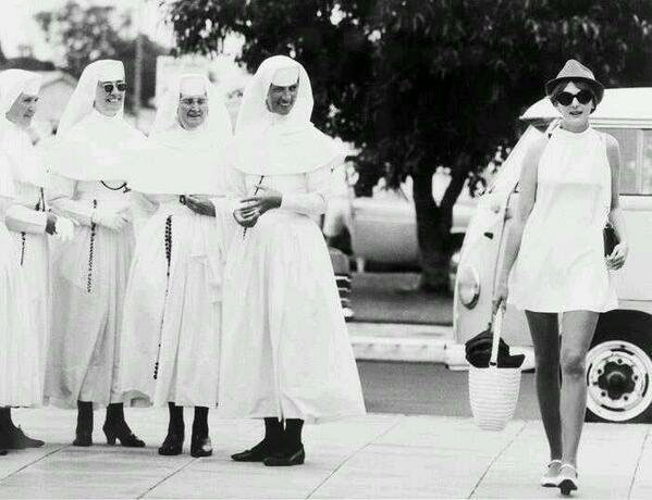 Nuns-and-mini-skirt