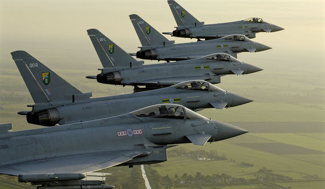 eurofighter typhoon lined up