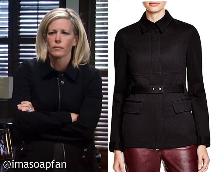Carly Corinthos, General Hospital, GH, Laura Wright, Black Theory Jacket