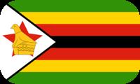 Rounded flag of Zimbabwe
