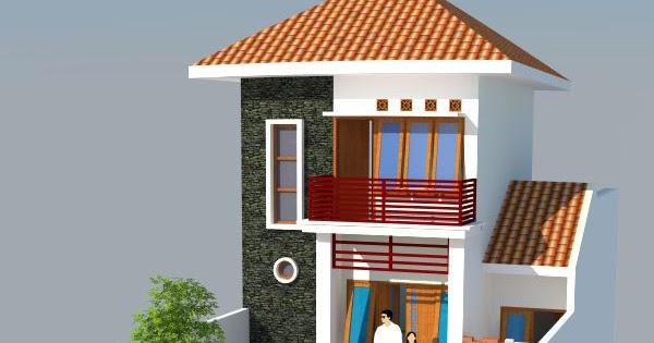 desain rumah 004 desain gambar rumah tinggal 2 lantai di