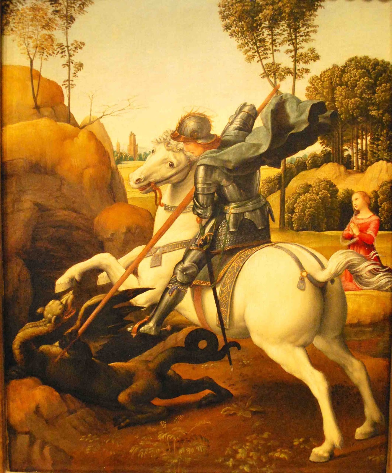"Saint George Dragon: ARTS&FOOD: Closely Looking At Raphael's ""St. George And"