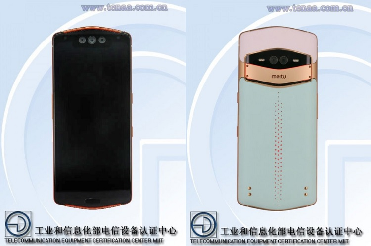 Meitu MP1801 with Triple Selfie Snappers Appears on TENAA