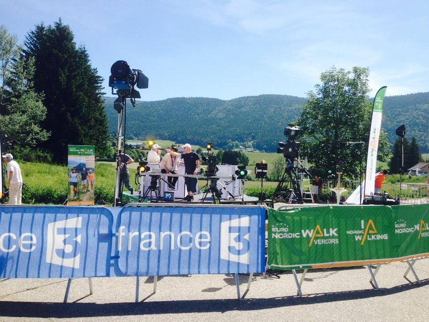 Emission de France 3 en direct d'Euronordicwalk Vercors 2014