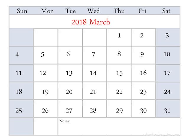 March 2018 Calendar, March Calendar 2018, Calendar March 2018, March 2018 Calendar Printable, March 2018 Calendar Template, Free March 2018 Calendar, March 2018 Calendar