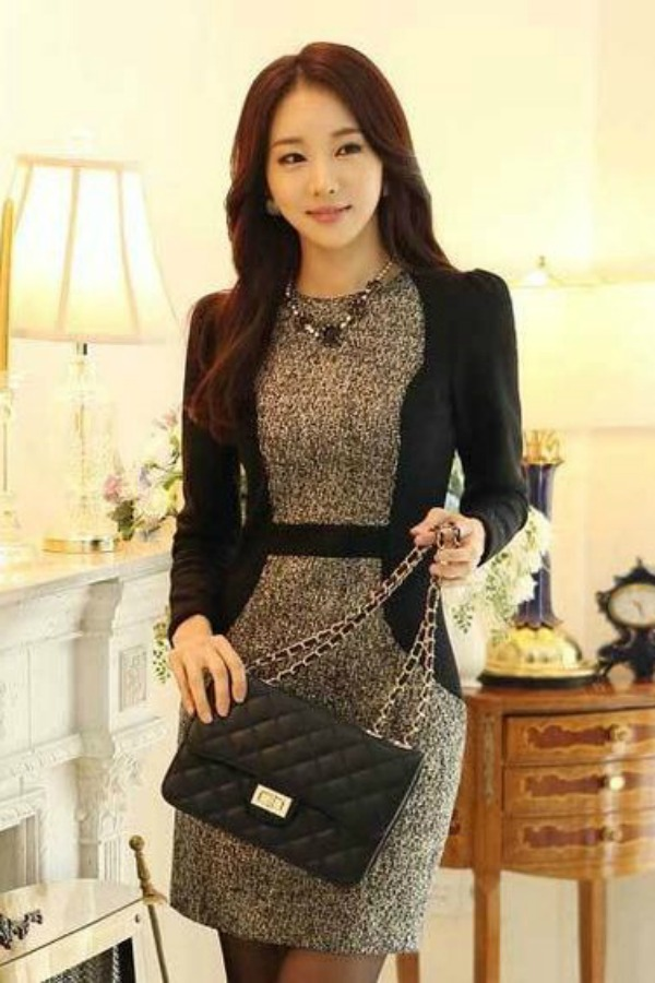 DRESS IMPORT KOREA STYLE - DRESS CANTIK READY STOCK