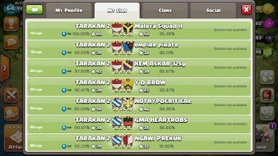 War Log Kemenangan Clan TARAKAN 2 Setelah Rehat Posting