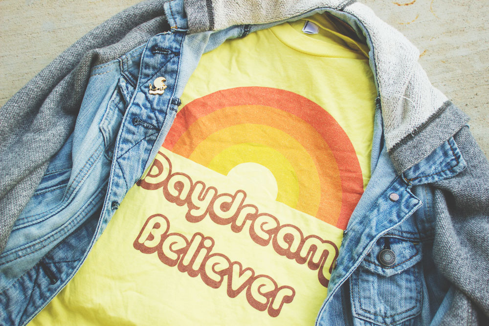 Vintage inspired Daydream Believer Tee | Boho hippie fashion | Bohemian style