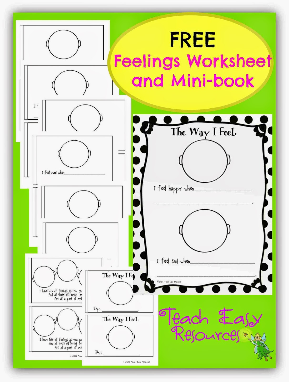 Teach Easy Resources Picture Book About Feelings And A