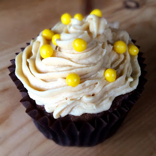 Mocha Cupcake Yellow Balls
