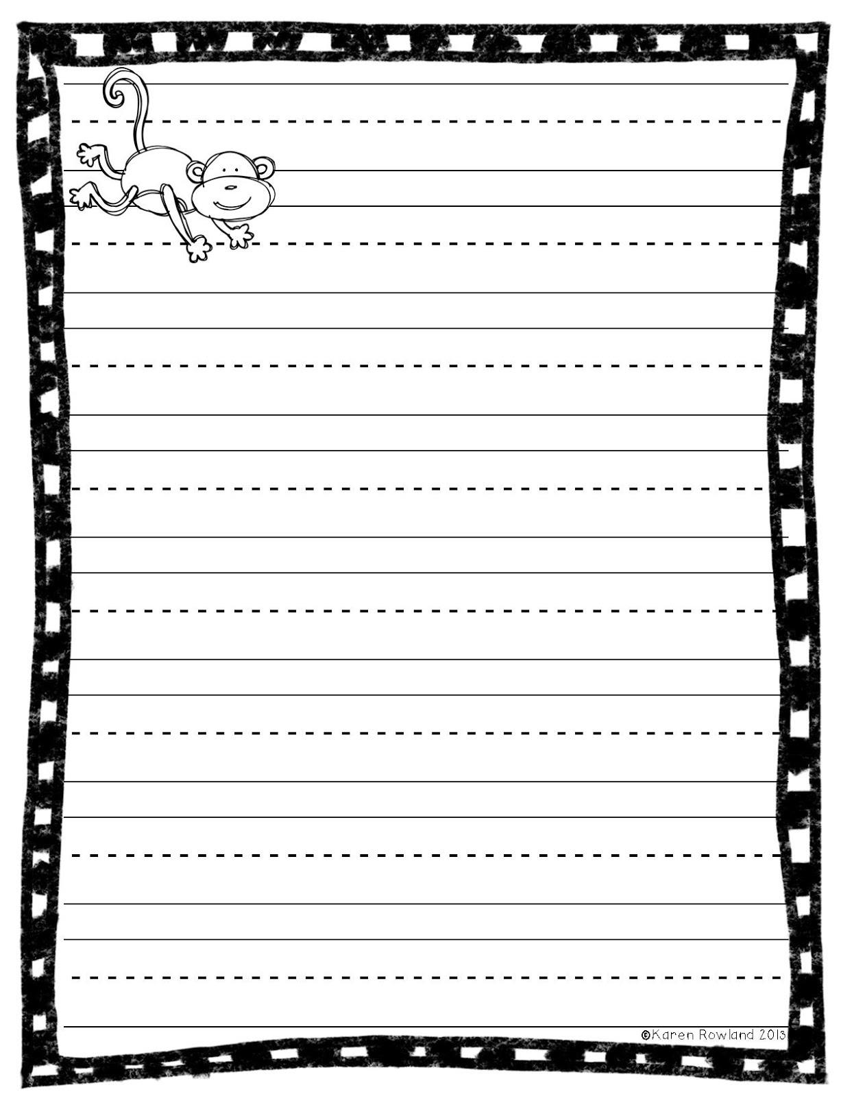 Free Beginning Writing Paper