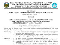 Contoh SK Pembagian Tugas Mengajar Guru Tahun Ajar 2017/2018
