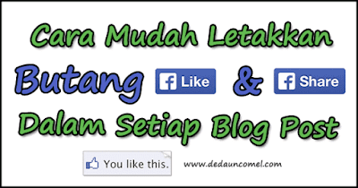 letak, share, like, facebook, blog, tutorial