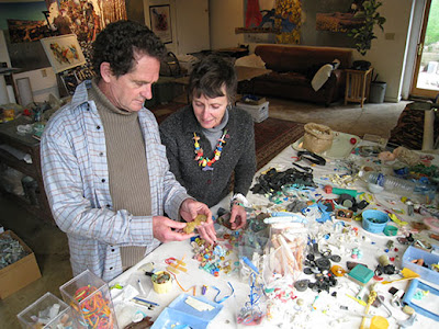 beach plastic Richard and Judith Lang 3 - Beach Plastic Turned Art : Saving Our Oceans