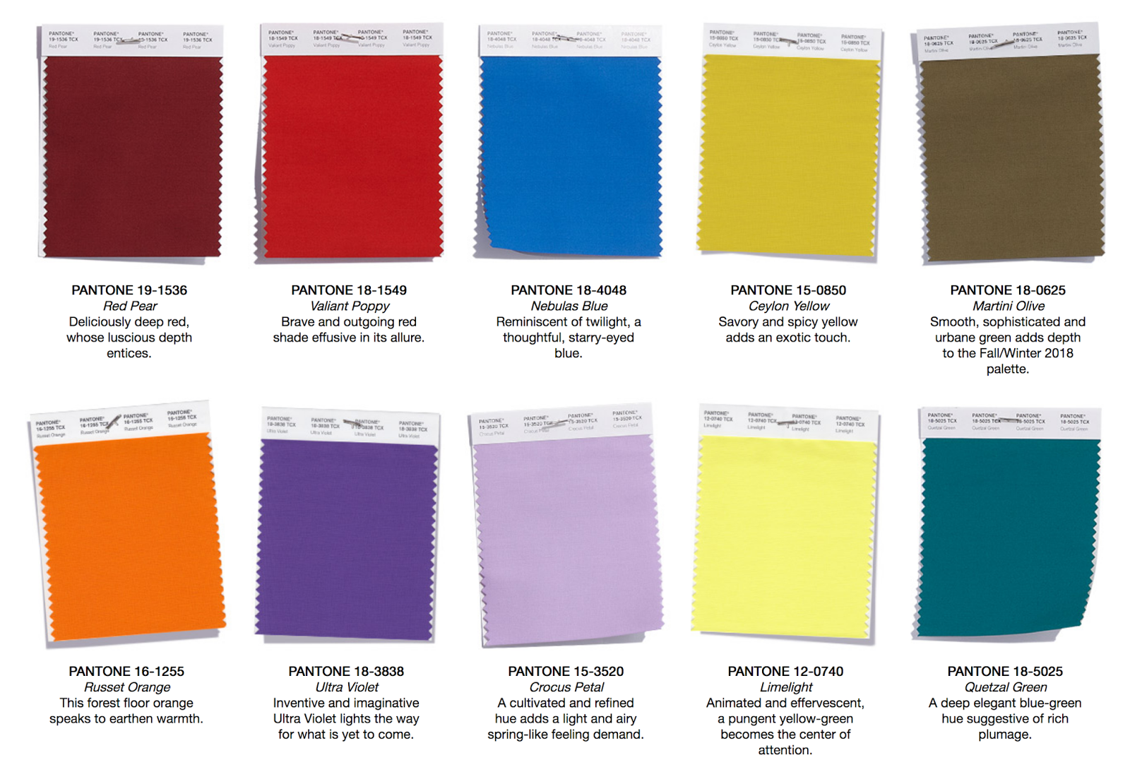 Pantone colour trends a w 2018 2019 kukka for Pantone color of 2018