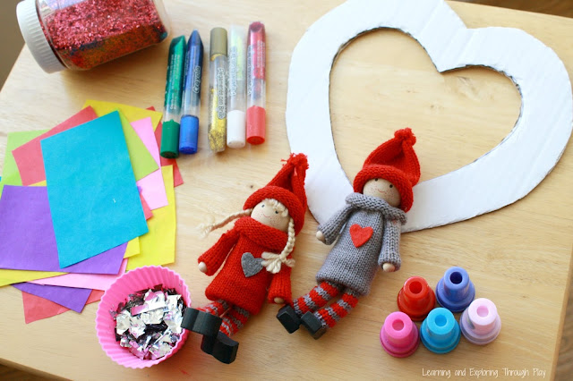 Heart Wreath Craft for Kids