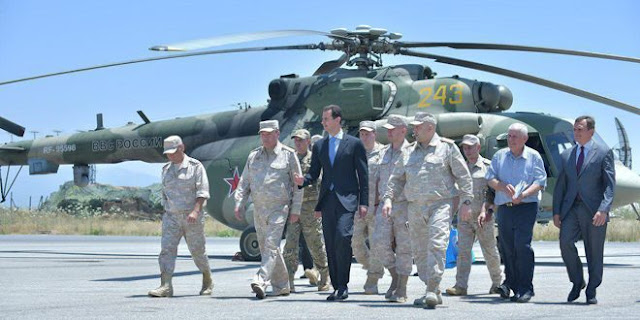 Assad Visits the Russia-operated Hmeimim Air Base - Like This Article