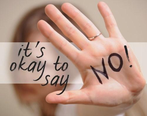 mengandung konotasi negatif menyerupai penolakan Bagaimana cara berkata TIDAK !! dengan TEGAS