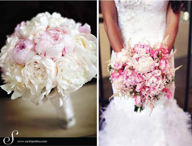 I M Really Obsessed With These White Peony Bouquets Accents Of Bright Colors Think They Re Super Sophisticated What Do You