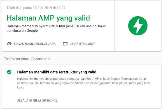 Validasi AMP