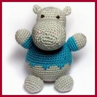 Precioso hipopótamo amigurumi