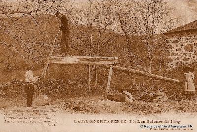 CPA Scieurs de long d'Auvergne