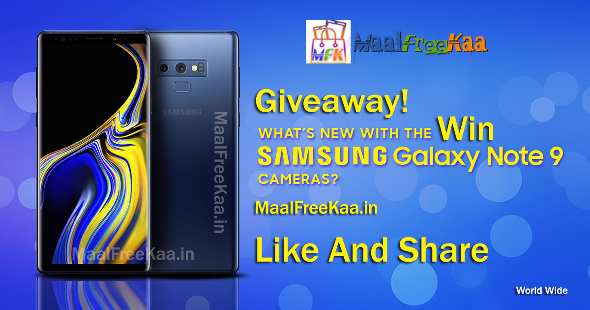 Enter Free Giveaways Win Samsung Galaxy Note 9 - Freebie Giveaway