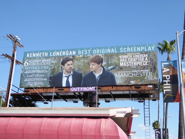 Manchester by the Sea Best Screenplay Oscar nominee billboard